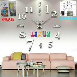 3D Gaint Wall Clock Jam Dinding Besar Diy