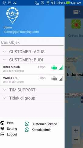 Agen murah..! GPS TRACKER gt06n, free server selamanya
