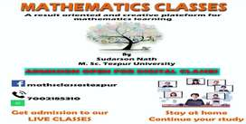 Online Live Classes for Higher Secondary and Graduation; MATHEMATICS