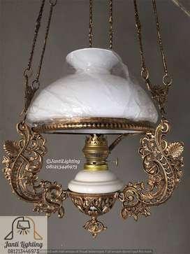 Lampu gantung antik katrol kerek betawi lampu joglo lampu pendopo