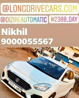 2300/day dzire automatic self drive cars