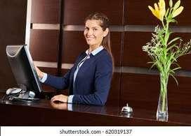Required Female Receptionist at Badarpur