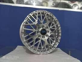 Velg Mobil Ring 15 HSR BENAWA Untuk Agya Brio Avanza Ayla Sigra Silver