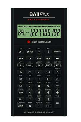 Texas BA-II Plus Professional Calculator