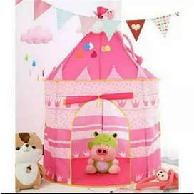 Tenda kastil anak pink