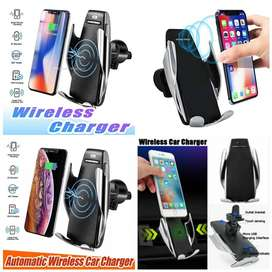 Free Home Delivery - Wireless Car Mobile charger With Holder Mount COD