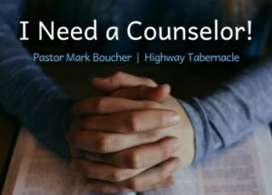 need a counsellor.