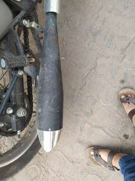 Royal Enfield shark silencer only 2 months old