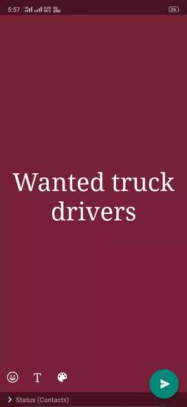 Wanted good drivers for 11:10 vehicle