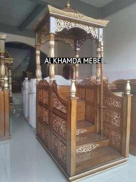 Ready Mimbar Masjid Material Kayu Jati Berkualitas #10