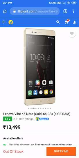 Lenovo vibe k5 note ( also exchange)