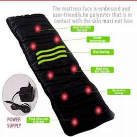 Massage body massager bed mattress 9 moter and 9 soothing Heat