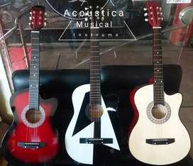 Acoustic guitar in different colours