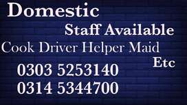 We Provide Verified professional staff ,COOK,MAID,DRIVER,PATIENT CARE.
