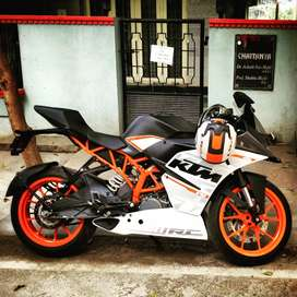 KTM RC 390 done less than 3000 kms.