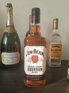 Minuman unik JIM BEAM uk. 1 liter original (nego)