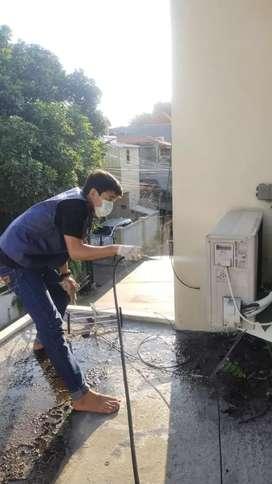 Service AC,kulkas,mesin cuci,pompa air dan bongkar pasang ac