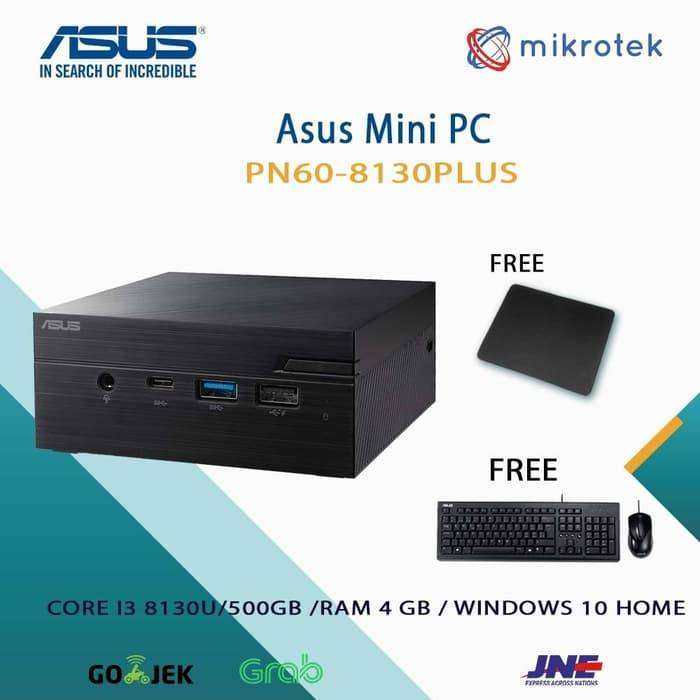 PC MINI ASUS VIVO PN60 8130PLUS CORE I3-8130 4GB 500GB WIN10 0