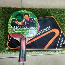 Bat / Bet Pingpong Tenis Meja Butterfly Wakaba 3000