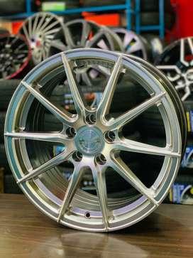 114/5/17 inches hyper selver verniti branded alloy wheels brand new