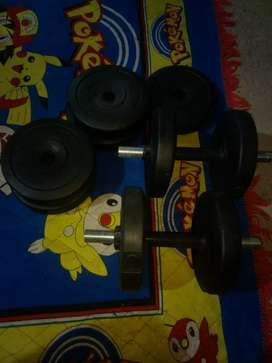 weights with dumbell