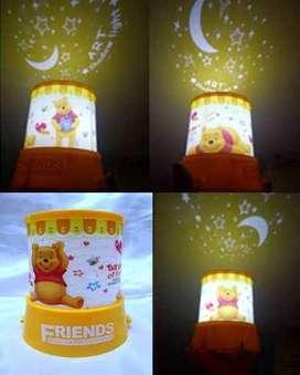 Lampu Tidur Proyektor Winnie The Pooh