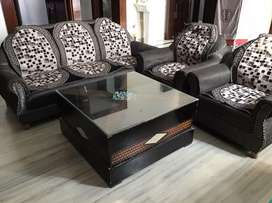 Sofa set 5 Seater & Wooden Table