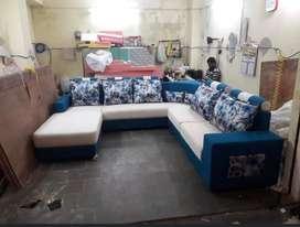 Asla furniture emi available tanveer furiture brand new sofa set sells