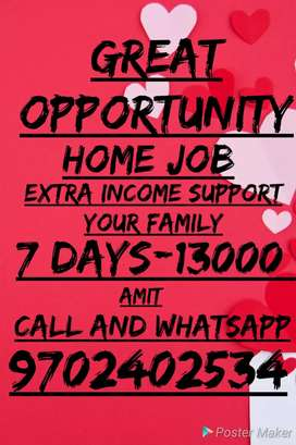 100% Guarantee This job Only Earning support family Weekly 13000