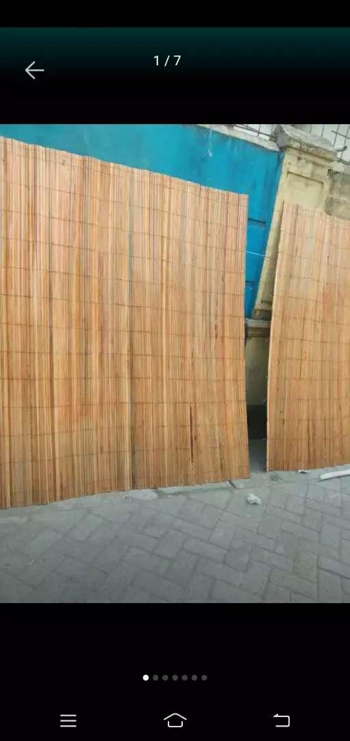 Tikar rotan dan isi bambu