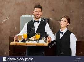 Urgent Required :- Waiter / Steward / Kitchen Helper/ Fresher Helper&