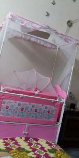 Baby cot and swing