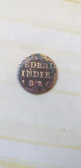 Uang Koin RI th 1826 era Hindia Belanda
