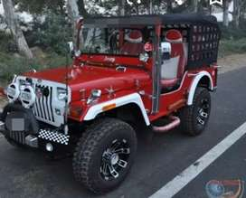 Modified open Red jeep