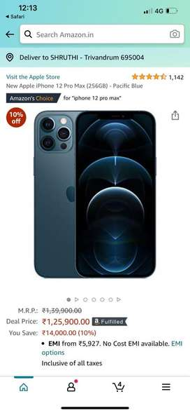 Iphone 12 Promax 256 Pacific Blue