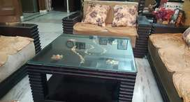 7 seater golden sofa with table