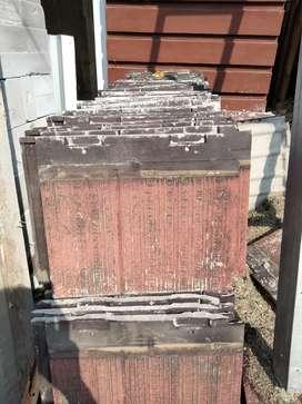 Dijual genteng beton second 500pcs
