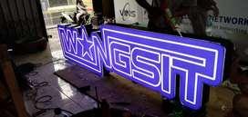 neonbox pola WANGSIT logo timbul