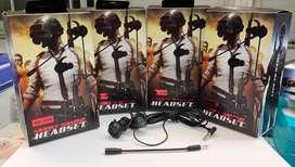 Headset gaming PBUG model kabel bisa bayar drumah