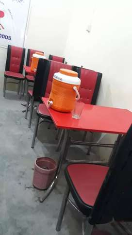 Table chairs used but ok