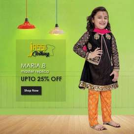 3-Pcs Unstitched Embroidered Kids Collection