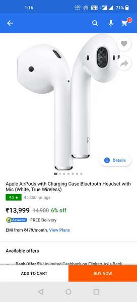 Apple airpods 2 seal pack indian