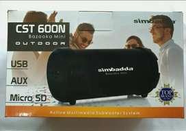 Simbadda CST 600N Bazooka Mini Portable Bluetooth Speaker - HITAM