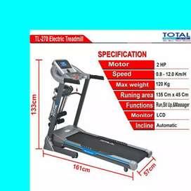 treadmill elektrik total TL-270 Y-201 electric treadmil alat fitnes