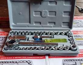 Kunci shock perlengkapan motor/mobil 40 in 1 fullshet termurah