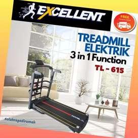 treadmill elektrik TL-615 G-48 alat olahraga lari