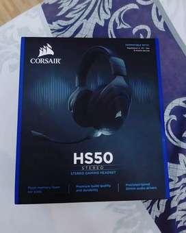 Headset Gaming Corsair HS50 Fullset Pembelian 2 bulan No Minus