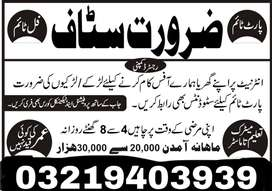 Urgently required staff for HR
