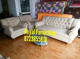 New leatherette sofa set available in offer price