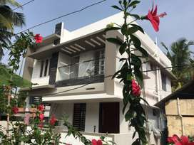 2.8 cent land 1520 sqft 3 BHK Brand new house Rs. 56 lakhs at Nettoor
